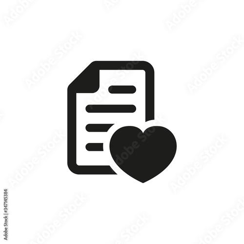 Cuadros en Lienzo Wish list icon on white background.