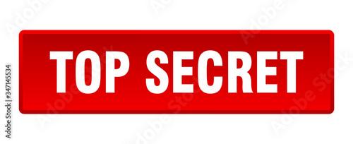 Photo top secret button. top secret square red push button