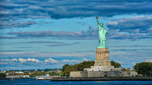 Statue Of Liberty Against Clou...