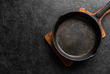 Empty Cast Iron Pan