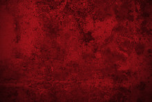 Dark Red Rusted Metal Plate Texture Background.