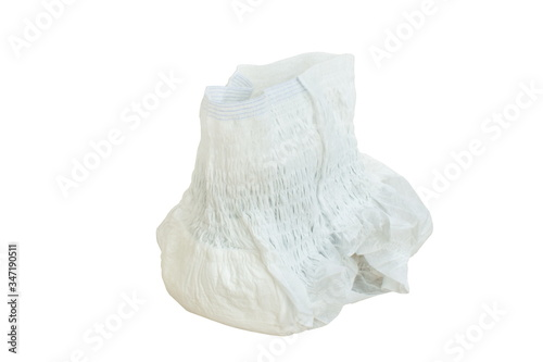 adult pant diaper wearing for absorb urine on white background Wallpaper Mural