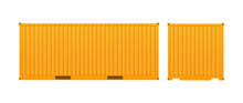 Yellow Freight Container. Larg...