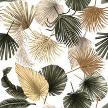 Tropical Floral Dried Palm Lea...