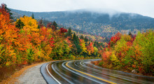 Scenic Autumn Drive On The Kancamagus Scenic Highway - White Mountain New Hampshire