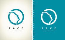 Human Face Logo Vector Design