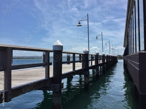 Fototapety, obrazy: View Of Pier Over Sea