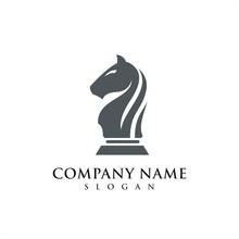 Black Horse Of Chess Logo Icon
