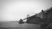 Golden Gate Bridge Over San Francisco Bay During Foggy Weather