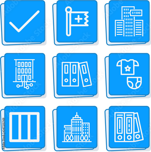 Photo Simple collection of presume related lineal icons