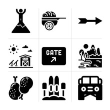 Filled Rural 9 Vector Icons Se...