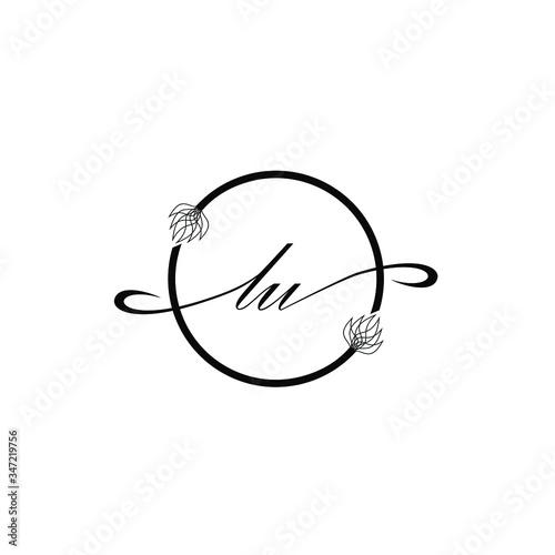 LU  Initial handwriting elegance logo vector Fototapete