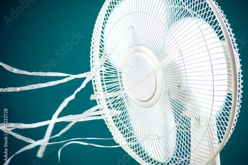 White cooling fan Fototapeta
