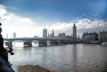 River Thames And The Palace Of Westminster In London