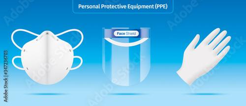 Fotografía Personal protection equipment kit