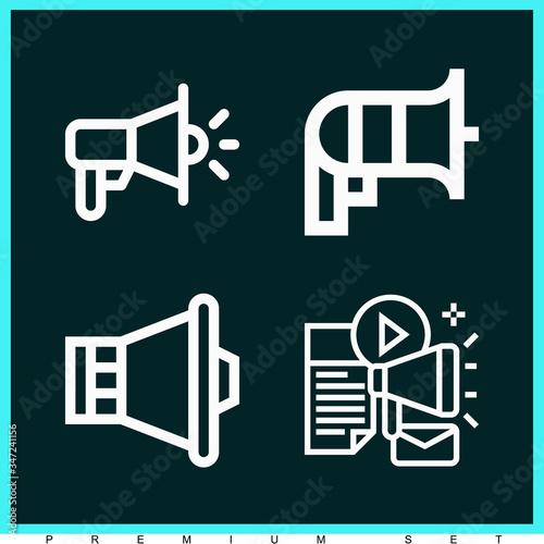 Set of 4 joe lineal icons Canvas Print