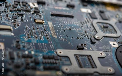 Obraz Płyta główna komputera - fototapety do salonu