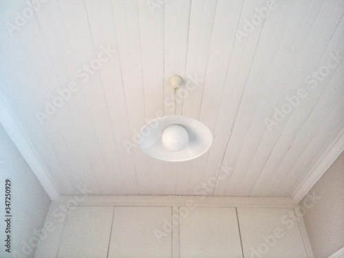 Low Angle View Of Pedant Light Hanging On Ceiling Tablou Canvas