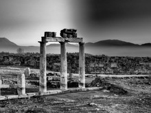 Old Ruined Columns At Hierapolis