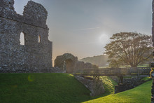 Historic Ruins Of Ogmore Castle Against Sky