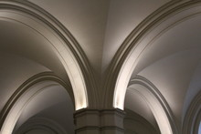 Low Angle View Of Ceiling In Cathedral