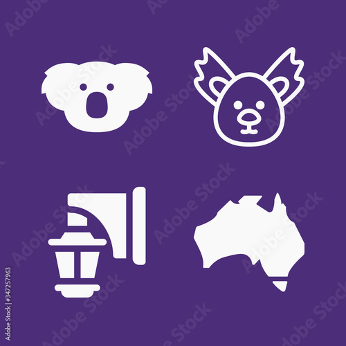 Set of 4 melbourne filled icons