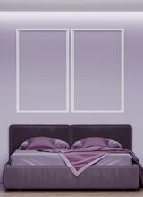 3d Render Of A Bedroom With La...