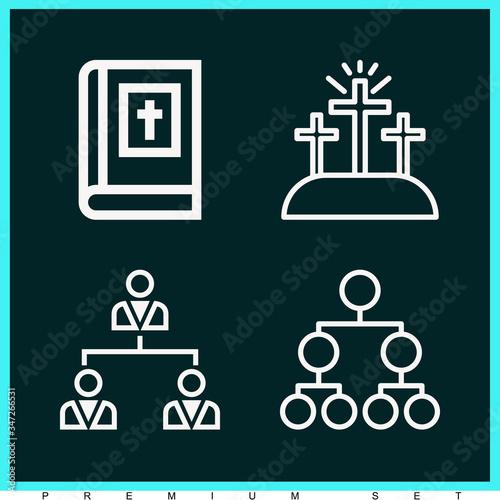 Photo Set of 4 apostolic lineal icons