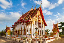 Thailand. Phuket. Buddhist Temple In Thailand. Temples On The Island Of Phuket. Vacation In Thailand. A Trip To The Island. Buddhist Temple Complex In Phuket. Religious Tourism. Pilgrimage
