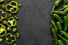 Bell Pepper Green Fresh Sliced...
