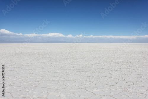 Papel de parede Scenic View Of Barren Landscape Against Blue Sky