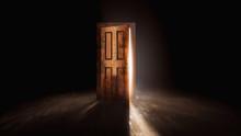 3D Rendering Of An Open Door W...