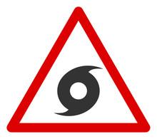Vector Hurricane Warning Flat ...