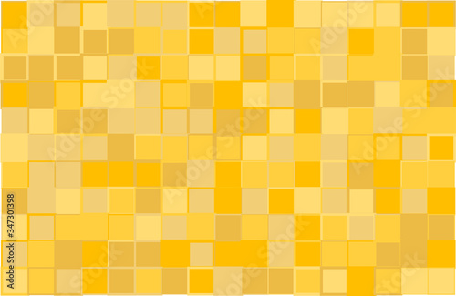 Artistic modern vector background from yellow color shades random mosaic pattern Canvas-taulu
