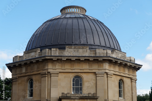 Photo Close-up of the architectural dome of the Brompton Cemetery Chapel designed by Benjamin Baud and built in 1839, in Fulham, west London, UK