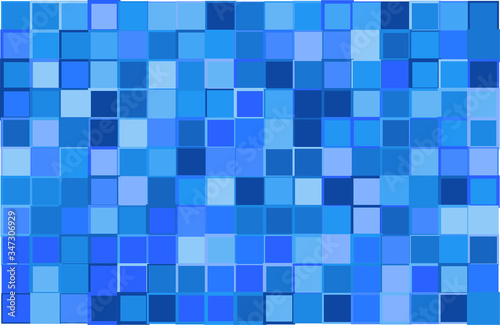 Artistic modern vector background from blue color shades random mosaic pattern w Canvas-taulu