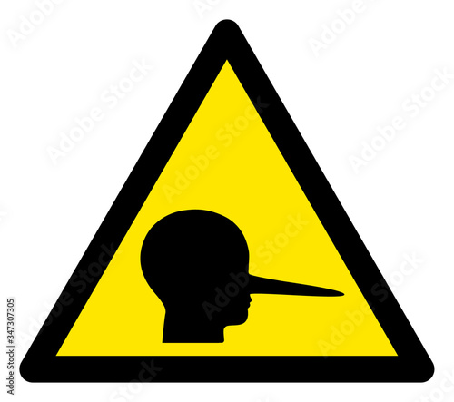 Obraz na plátně Vector liar flat warning sign