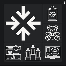 Set Of 6 Suffer Lineal Icons