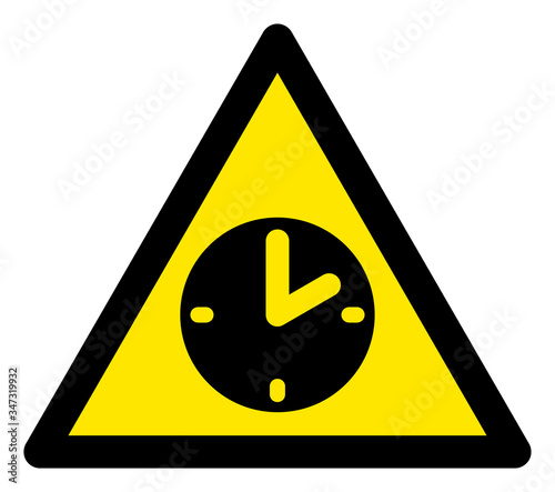 Photo Vector time flat warning sign