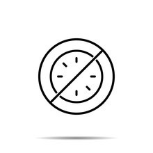 No Clock Without Hands Icon. S...