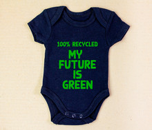 Recycled Fabric Baby Grow With...