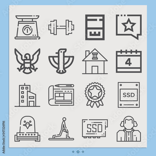 Photo Simple set of asserting related lineal icons.