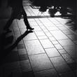 Leinwandbild Motiv Woman Walking In A Street