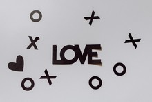 Black Paper Sign Saying Love A...