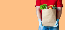 Grocery Delivery Courier Man I...