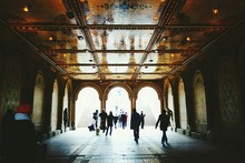 People Walking In Subway Of Central Park