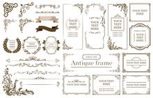 Vintage Frames, Dividers, Sign...