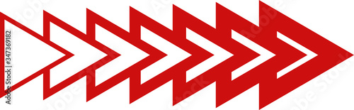 red arrow series texture triangle polygon shapes Fototapet