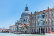 canvas print picture - The church di Santa Maria della Salute (Chiesa di Santa Maria della Salute), view from the canal (Canal Grande). Venice, Italy, Europe.