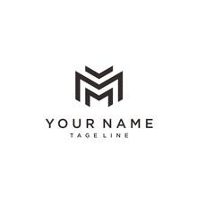 Letter M Line Logo Design. Lin...